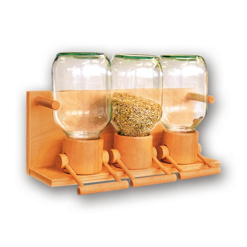 Bild zu Getreidespeicher Holz/Glas für 3 x 1,9kg