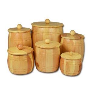 Bild 1 zu Artikel Holzfass - Holzdose aus Zirbenholz für 1,0kg