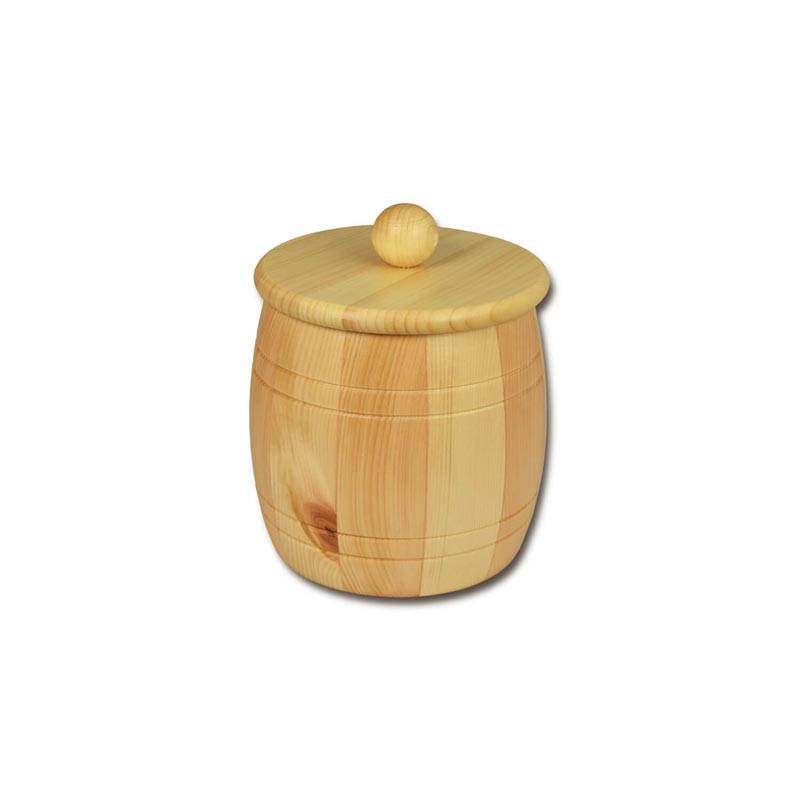 Bild zu Holzfass - Holzdose aus Zirbenholz für 1,0kg
