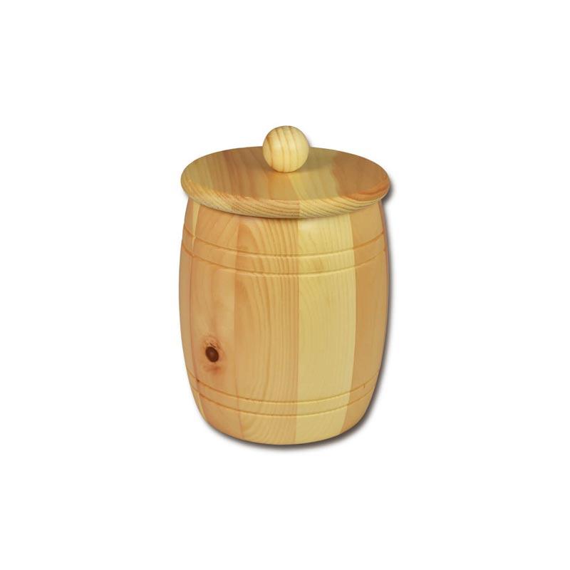Bild zu Holzfass - Holzdose aus Zirbenholz für 1,5kg