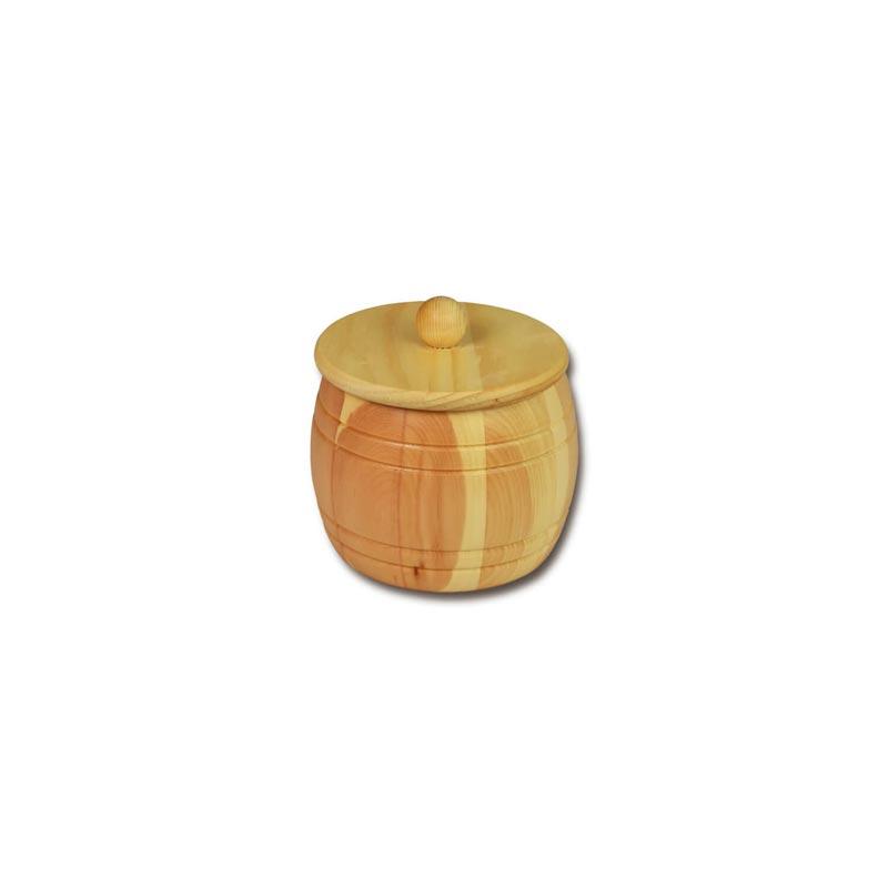 Bild zu Holzfass - Holzdose aus Zirbenholz für 0,35kg