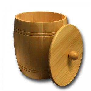 Bild 1 zu Artikel Holzfass - Holzdose aus Zirbenholz für 5,0kg