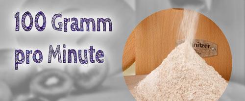 ~100 Gramm pro Minute