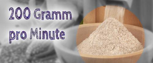 ~200 Gramm pro Minute