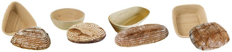 Gärkörbchen / Brotkörbchen in vielen Formen, Motiven und Schriftzügen