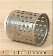 Gemüseraffel Bircher Trommel