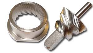 Stahlmahlwerk bei Messerschmidt Getreidemühle (Mahlvorsatz)
